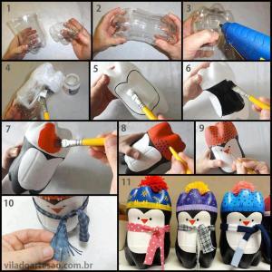pingüinos+botella
