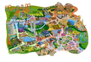 Plano del Parque warner