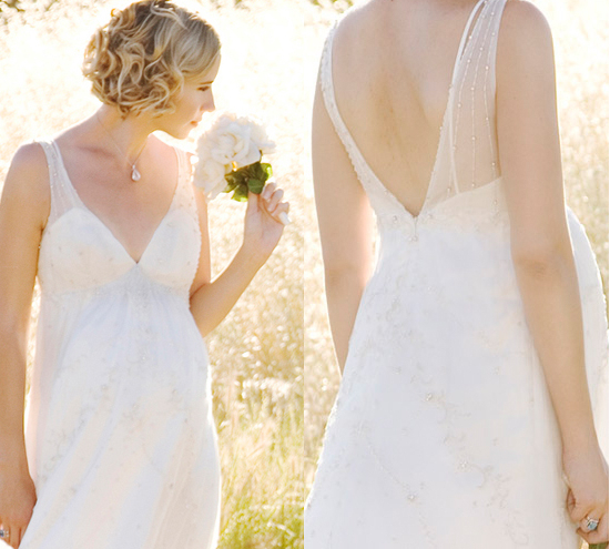 Vestidos de boda para embarazadas 2015